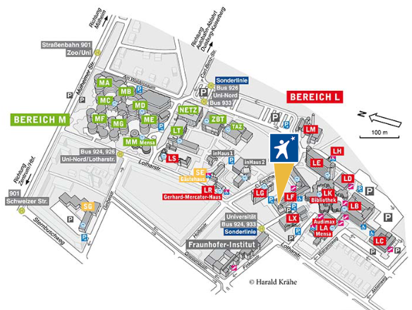 Campus Duisburg map